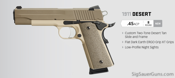 New nickel and stainless 1911s from SIG, in .45 ACP and .40 S&W ...