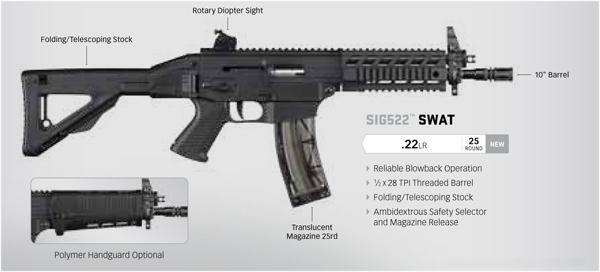 Sig 522 Swat SBR